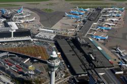 Letiště Schiphol poblíž Amsterdamu