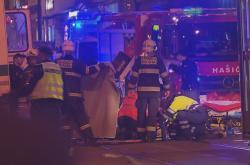 Silvestrovská nehoda v Praze
