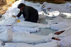 Oběti chemického útoku v syrské Ghútě (srpen 2013)