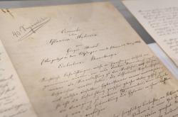Rukopis Gregora Johanna Mendela s názvem Pokusy s rostlinnými hybridy