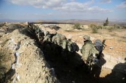 Turečtí vojáci v oblasti Afrínu