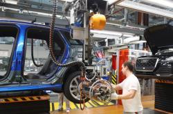 Výroba automobilky Audi