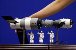 Model čínské vesmírné stanice Tchien-kung 1