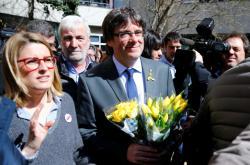 Carles Puigdemont v Berlíně