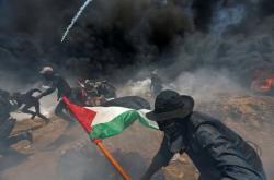 Protesty Palestinců v Pásmu Gazy