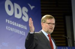Předseda ODS Petr Fiala vystoupil na programové konferenci v Líbeznicích