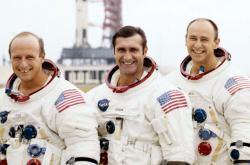 Posádka Apolla 12:  Charles Conrad, Richard Gordon a Alan Bean