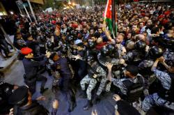 Nedělní protest v Ammánu