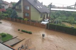 Lokální povodeň na Uherskohradišťsku