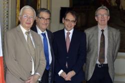 Roland Galharague, Jean-Marie Lehn, Serge Haroche, Jean-Pierr Sauvage