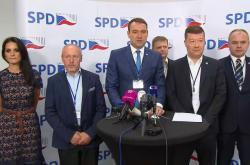 Brífink po volbě vedení SPD