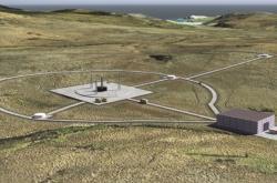 Vizualizace skotského kosmodromu