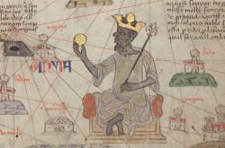 Mansá Músa na dobové ilustraci v Katalánském atlase