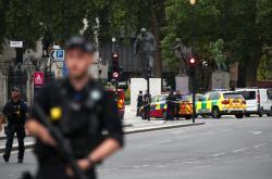 Incident před budovou parlamentu v Londýně