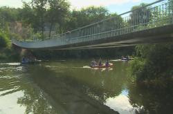 Lávka přes řeku Svratku v Brně-Bystrci