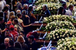 Státní pohřeb obětí ze zříceného Morandiho mostu v Janově