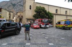 Záchranná vozidla v Civitě