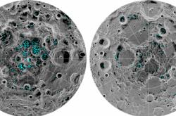 Led na jižním pólu Měsíce