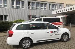 Vůz Senior taxi ve Vyškově