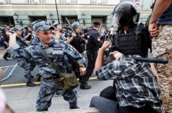 Zákrok proti demonstrantům v Moskvě