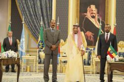 Eritrejský prezident Afewerki a etiopský premiér Ahmed v Džiddě