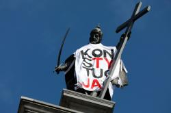 Protest proti reformě justice v Polsku