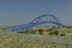 Vizualizace nového mostu mezi Mikulčicemi a Kopčany