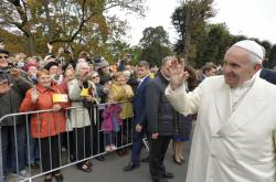 Papež František na návštěvě Rigy