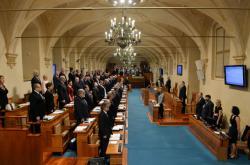 Senátoři v listopadu 2016 na ustavující schůzi