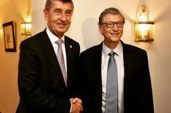 Andrej Babiš a Bill Gates