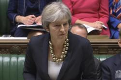 Theresa Mayová v britském parlamentu