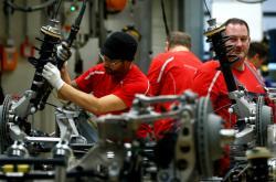 Výroba v německé továrně Porsche