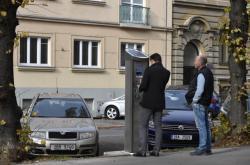 Parkovací automat v centru Brna
