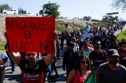 Demonstrace v Tijuaně