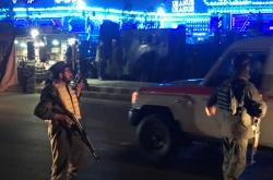 Afghánský policista u místa útoku