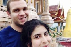 Matthew Hedges na snímku se svou ženou Danielou Tejadaovou