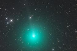 Kometa 46P Wirtanen zachycená 9. listopadu 2018 z namibské astrofarmy Tivoli