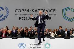 Radost v podání prezidenta klimatického summitu v Katovicích Michala Kurtyky