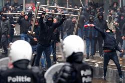 Bruselské protesty proti migračnímu paktu OSN