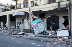 Zemětřesení ničilo domy na úpatí Etny