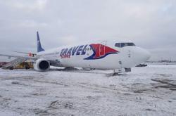 Letadlo Smartwings vyjelo v Moskvě z dráhy