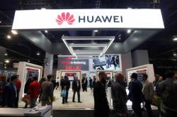 Stánek Huawei na veletrhu CES v Los Angeles
