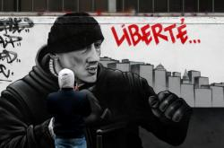 Street artová malba bývalého boxera Christophea Dettingera