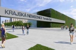 Vizualizace nové krajské nemocnice ve Zlíně
