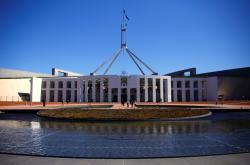 Budova australského parlamentu v Canbeře