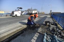 Oprava mostu v Otrokovicích