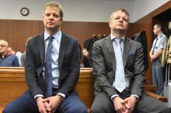 Bratři Alexandr a Zdeněk Zemkovi před soudem v lednu 2018