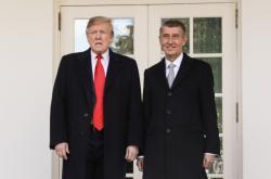 Donald Trump a Andrej Babiš po jednání v Bílém domě