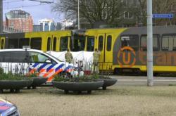 Scéna po střelbě v Utrechtu