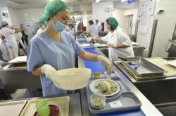 Kuchyně v Krajské nemocnici T. Bati